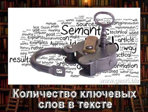 keywords Количество ключевых слов в тексте
